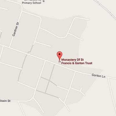 Gorton Monastery Manchester map