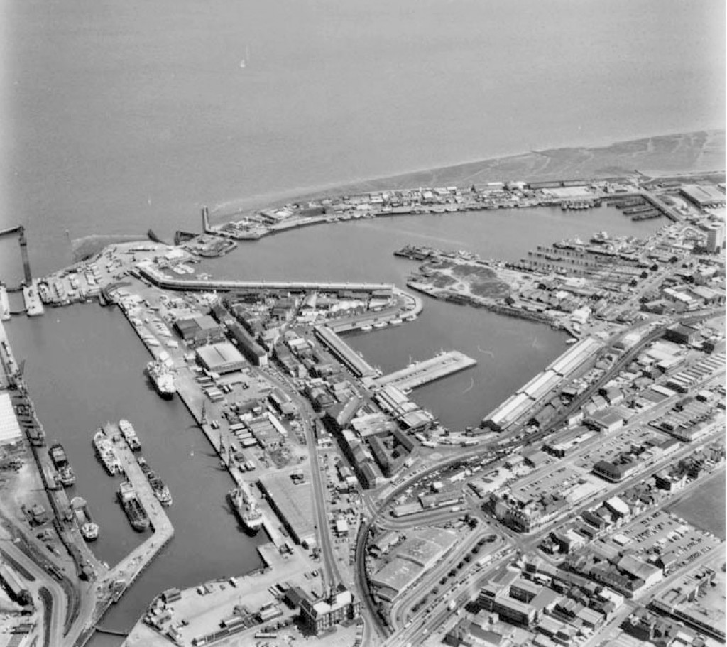 Grimsby Docks Aerial View